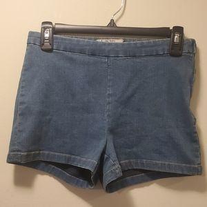 Free People Blue Jean Denim Highwaisted Shorts 27